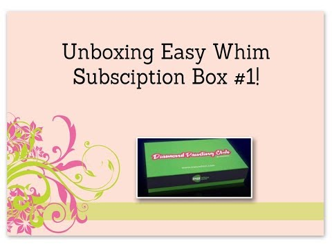 Unboxing Easy Whim Subscription Box #1