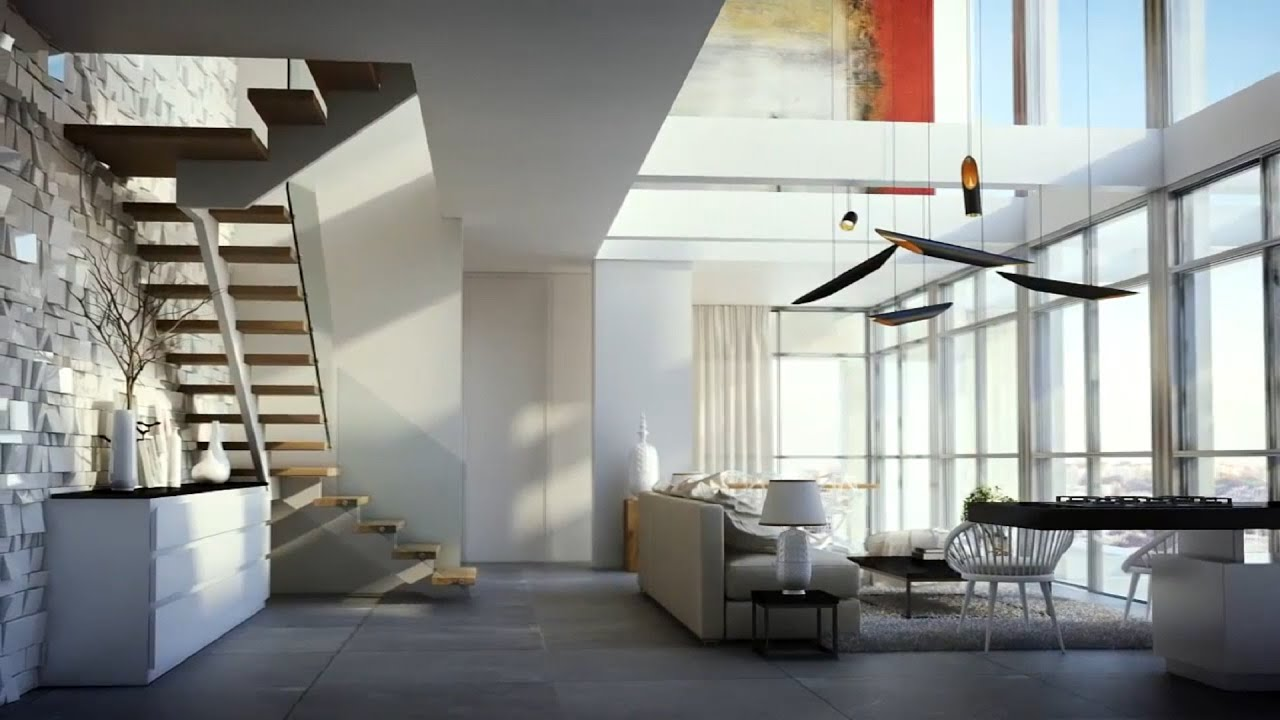 superb luxury duplex #1: Luxurious duplex apartment in Jerusalim 3D Visualisation HD - YouTube