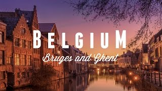 BELGIUM from the air - Brussels, Bruges and Ghent