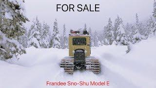 For Sale: Frandee SnoShu Snowcat