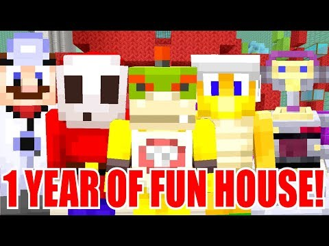 1 YEAR OF NINTENDO FUN HOUSE! *CELEBRATION!* | Nintendo Fun House | Minecraft [365]