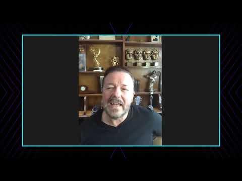 Ricky Gervais Celebrates