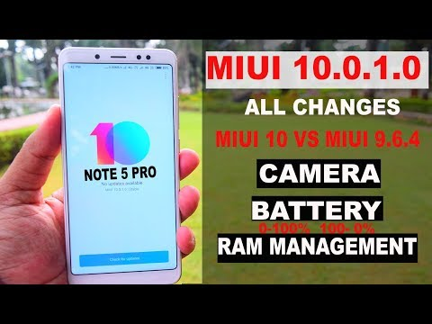 REDMI NOTE 5 PRO - MIUI 10.0.1.0 #ALL CHANGES#BATTERY#CAMERA