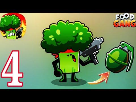 FOOD GANG - BRO Level 5 Hand Grenade Gameplay Walkthrough Part 4 (Android IOS )