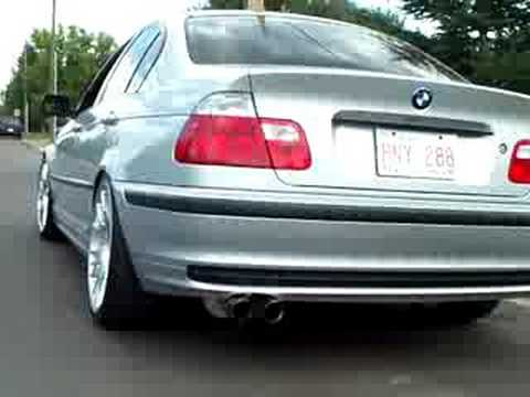 bmw e46 323i re dms exhaust youtube. Black Bedroom Furniture Sets. Home Design Ideas