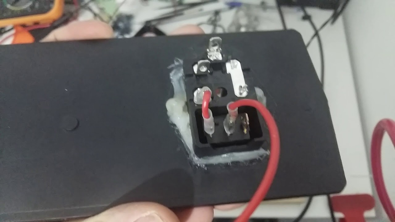 How to connect 3 pins Power Socket Module (FUSE,SWITCH,PLUG)  YouTube