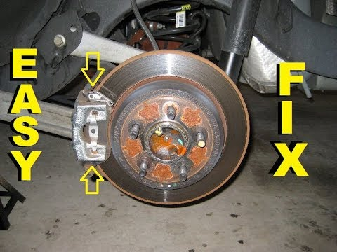 How to repair REAR CALIPER noise Lincoln Town Car and Junkyard Trip