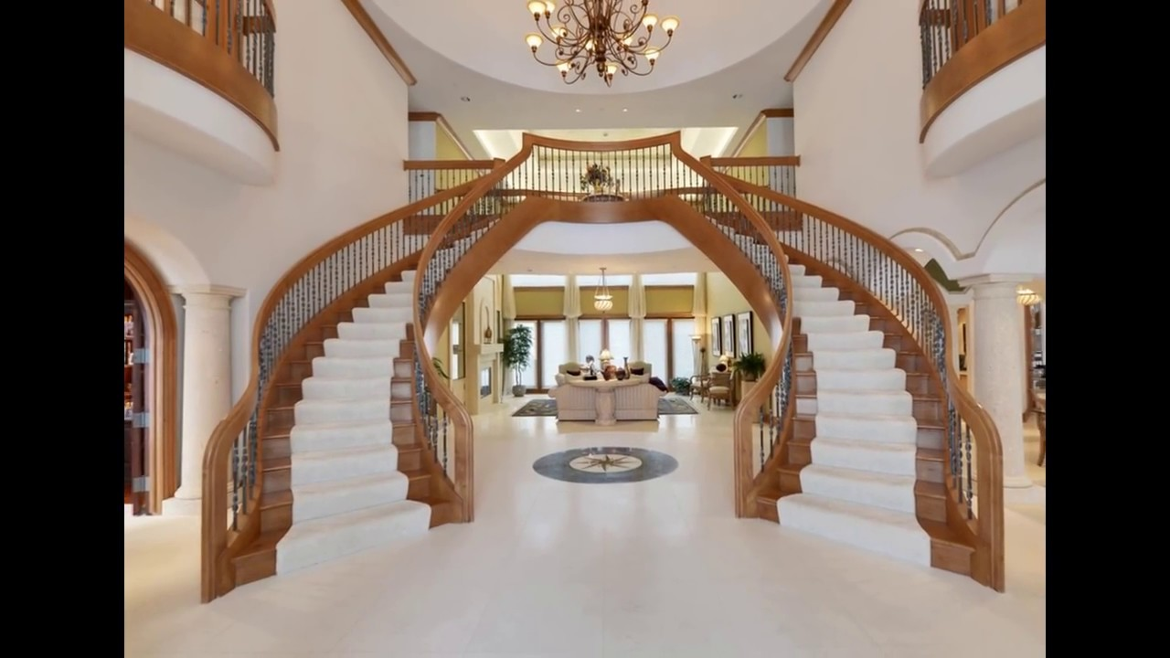 25 Classical double stairs foyer awesome & luxury   YouTube
