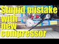 Stupid MISTAKE with our NEW compressor - Sailing A B Sea (Ep.065)