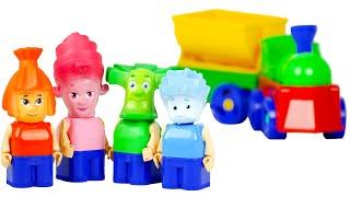 бауер фикси конструктор с паровозиком игрушки из мультика фиксики видео для детей