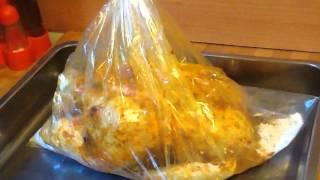 how to make roasted chicken in oven bag? فراخ مشويه فى كيس الفرن