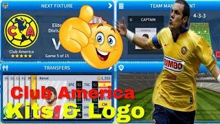 How To Create Club America Team Kits & Logo | Dream League Soccer 2019