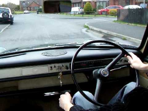 Austin 1100 driving