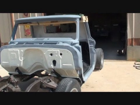 Pro Street Chevy Truck Putting The Cab On The Frame Youtube