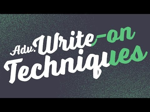 Advanced Write-on Techniques - Adobe After Effects tutorial thumbnail