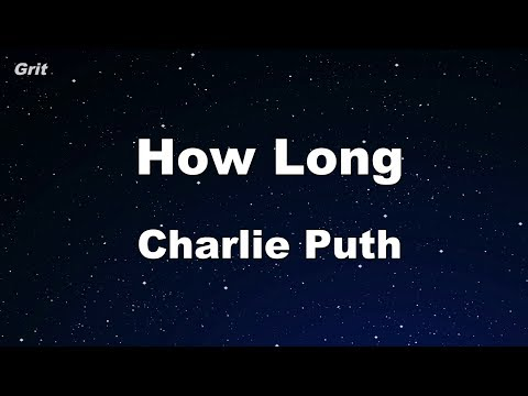 How Long - Charlie Puth Karaoke 【With Guide Melody】 Instrumental