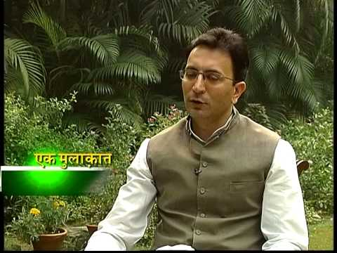 Manoj Tibrewal Aakash interviewed Mr. Jitin Prasada for DD News's Ek Mulaqat on 04.11.2012