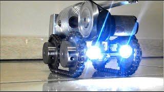 Міні генератор встановлений на танк для фар, з двигуном Стірлінга!
