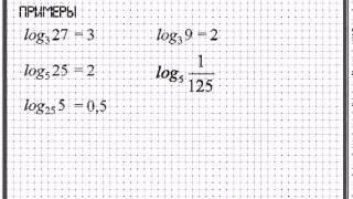 Логарифм числа  Основное логарифмическое тождество