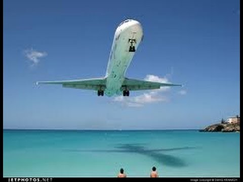 Amazing MD80 bad weather VOR Z Approach into Princess Juliana, ST Maarten, Rwy 10