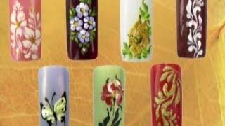Миниатюрная роспись ногтей. Урок 3
