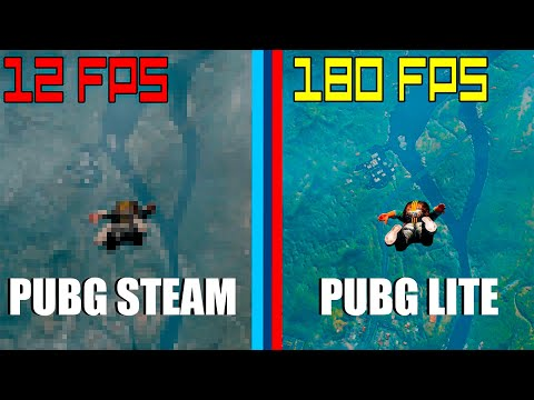 Тест PUBG Lite и PUBG Steam на ОЧЕНЬ слабом пк/PUBG Lite Vs PUBG Steam