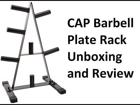 CAP Barbell Olympic 2 Inch Plate Rack Unboxing Review