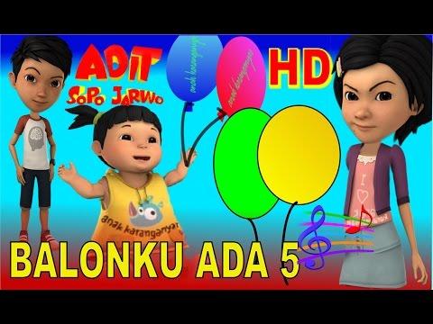 Adit Sopo Jarwo ✰ Balonku Ada 5 ✰ Lagu Anak Indonesia Populer Sepanjang Masa