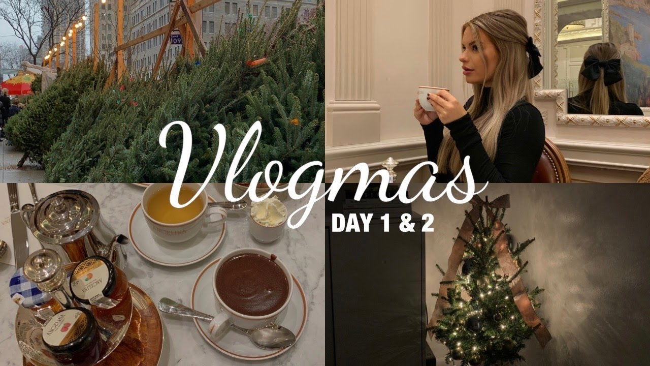 Download NYC VLOGMAS DAY 1 & 2 // Getting My Christmas Tree,  Baking Cookies, Angelina Paris Tearoom & More!