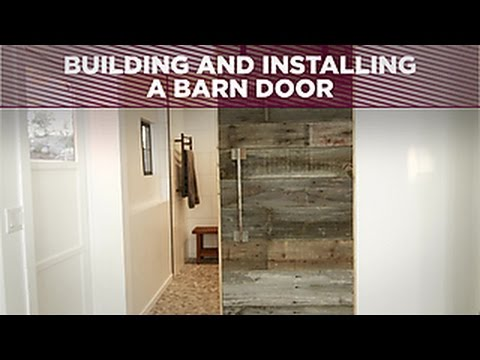 How To Build And Install A Barn Door Diy Network