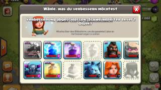 upgrading minions and hog rider to level 5 clash of clans