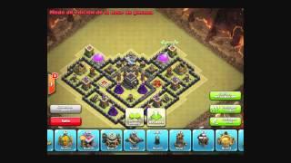 Diseño de aldea Ayuntamiento 9 Para Guerra Clash of Clans