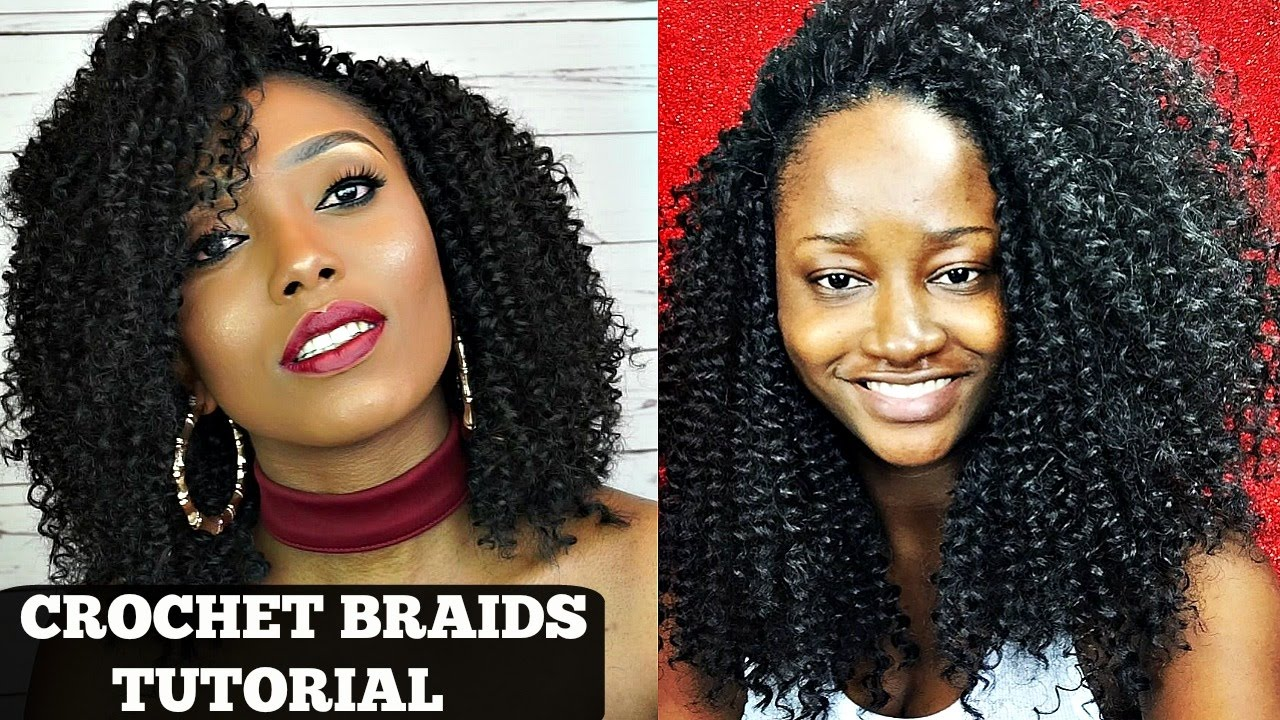 Crochet Braids Tutorial With Freetress Water Wave Collab With