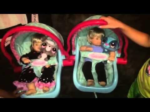 American Doll Bitty Baby Car Seat Vid