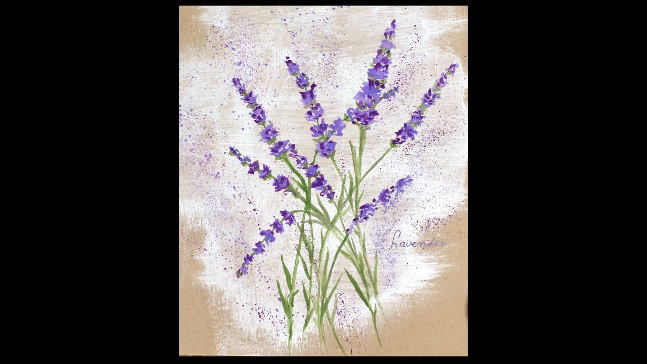 lavender painting - photo #10