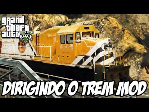 GTA 5 - Dirigindo o TREM e o METRO MOD
