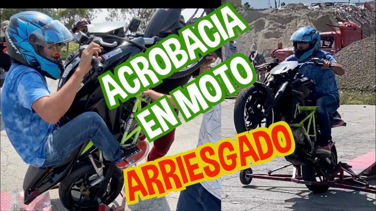 HACIENDO ACROBACIA EN MOTO / MUY ARRIESGADO 😰😱/ LOS DESTRAMPADOS