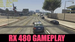 RX 480 + GTA V Gameplay | QHD Ultra Settings