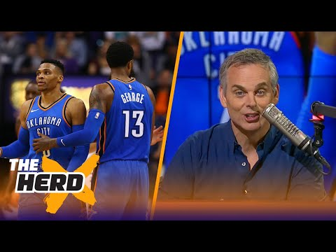 Colin Cowherd on Paul George and Westbrook's issues, recruiting stars in the NBA | THE HERD