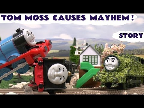 Play Doh Thomas And Friends Accidents & Crashes Tom Moss  Funny Naughty Engine Kids Toy Train
