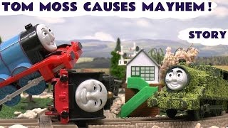 play doh thomas and friends accidents crashes tom moss prank funny naughty engine kids toy train