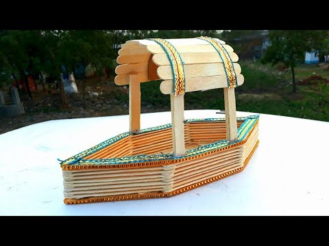 DIY | How to make popsicle stick boat | easy ice cream stick boat making | boat from popsicle stick.