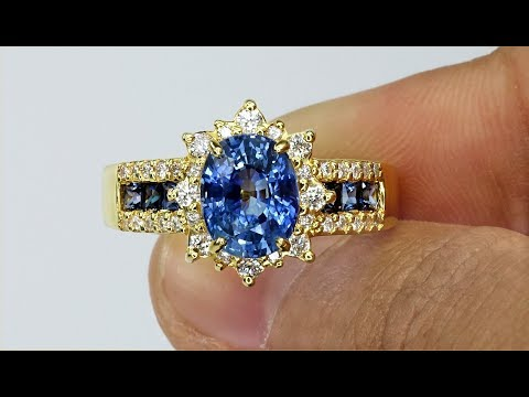 gia-certified-top-gem-natural-top-blue-sapphire-&-diamond-estate-14k-gold-ring-solid