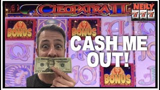 CLEOPATRA 2 GAVE ME A KILLER WIN FOR THIS WEEKS CASH ME OUT! SLOT MACHINE BIG WINS!