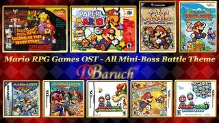 Mario RPG Games OST - All Mini-Boss Battle Theme