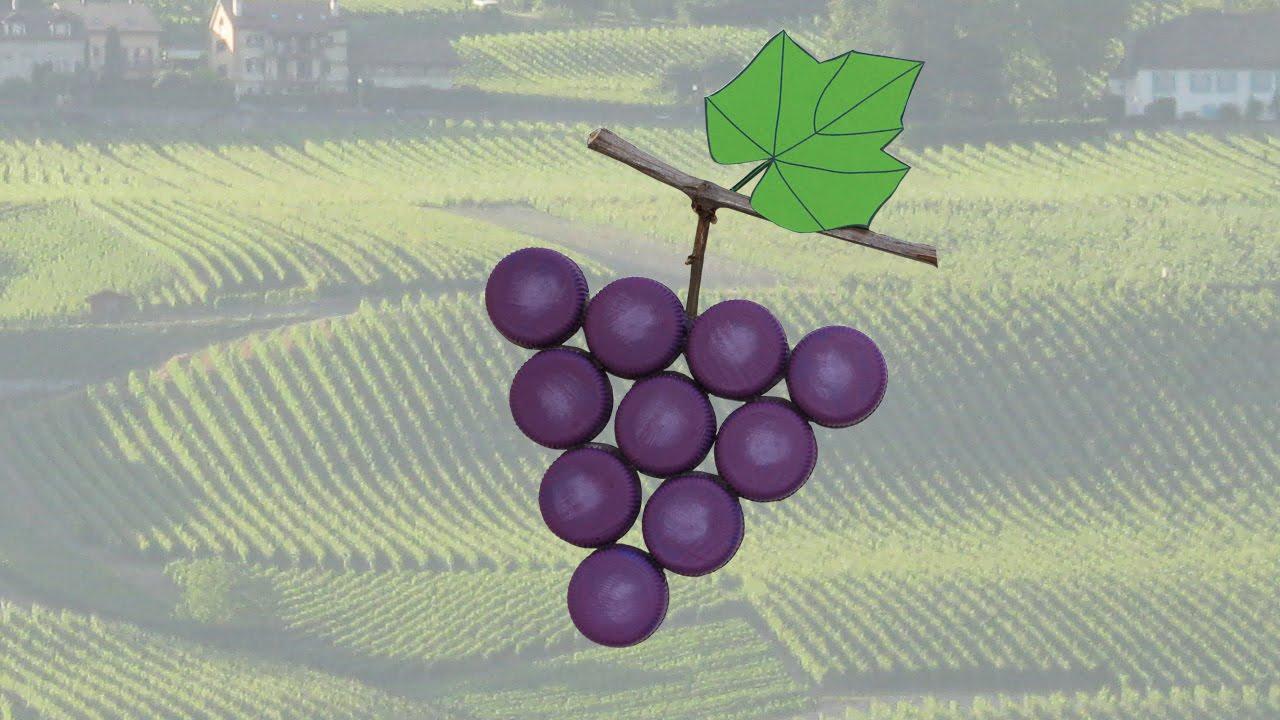 Tuto grappe de raisins avec bouchons en plastique youtube - Bricolage avec bouteille plastique ...