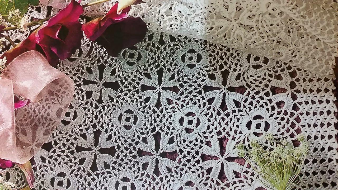 Flor para camino centro de mesa mantel colcha youtube for Camino de mesa a crochet