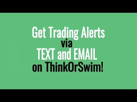 Text & Email Stock Alerts From Indicator Signals - TD Ameritrade Thinkorswim Tutorial