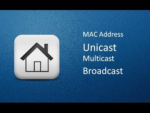 How to find out Unicast, Multicast and Broadcast address in MAC