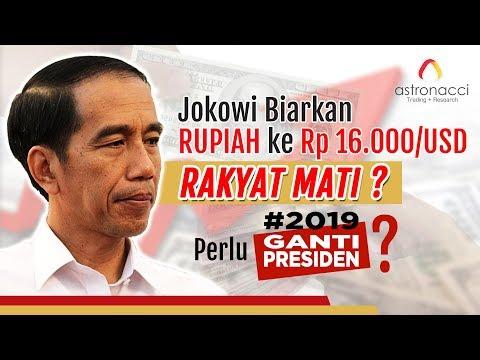 JOKOWI BIARKAN RUPIAH KE Rp16,000/USD. RAKYAT MATI???